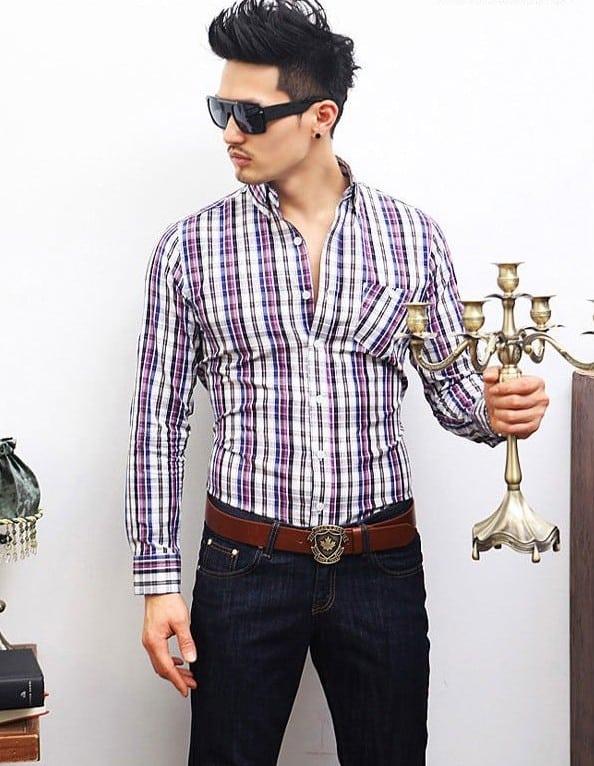 Camisa Xadrez Moda Masculina
