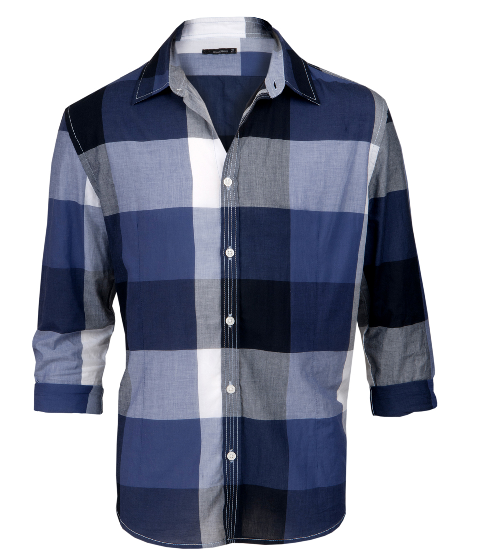 Camisa com xadrez largo