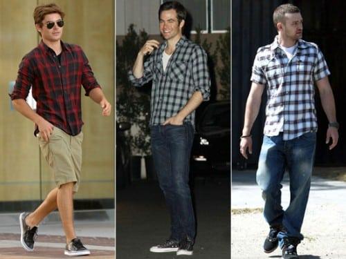 Famosos com Camisa Xadrez Masculina