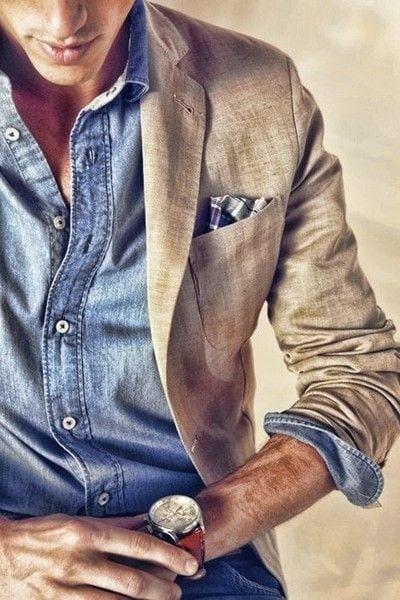 jaqueta jeans + camisa de linho fica massa também.