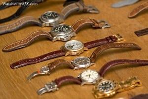 Saca só essa coleção de relógios de luxo. Só relógio top.
