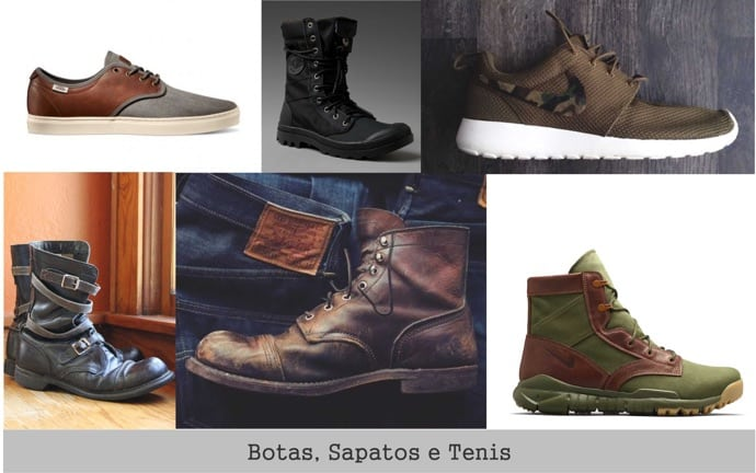 estilo-militar-botas-sapatos