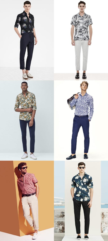 como-combinar-camisa-floral-calca-chino