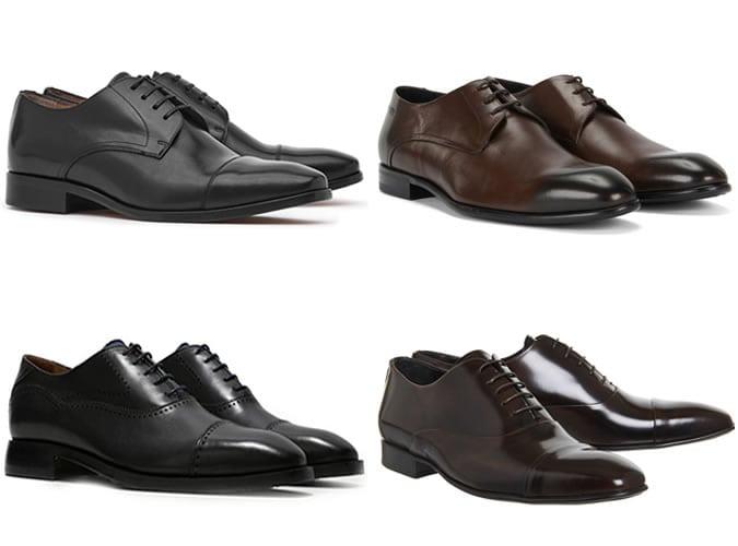 Sapatos masculinos preto e marrom