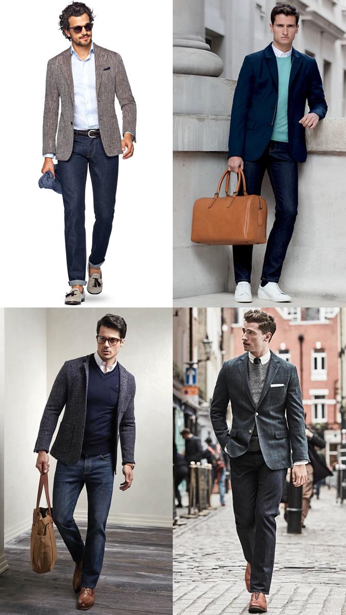 Blazer com jeans