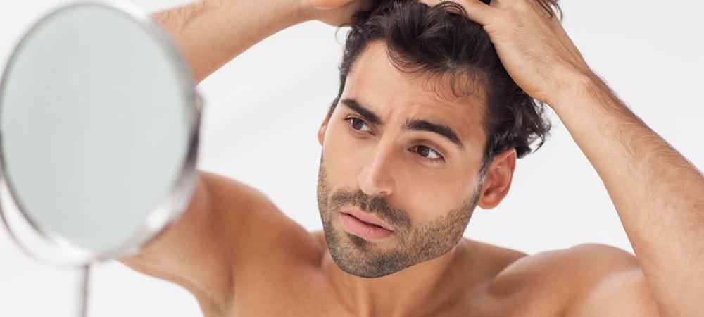 Cabelo masculino espelho