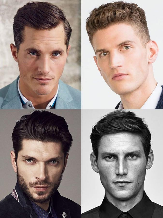 Homens com rosto oval