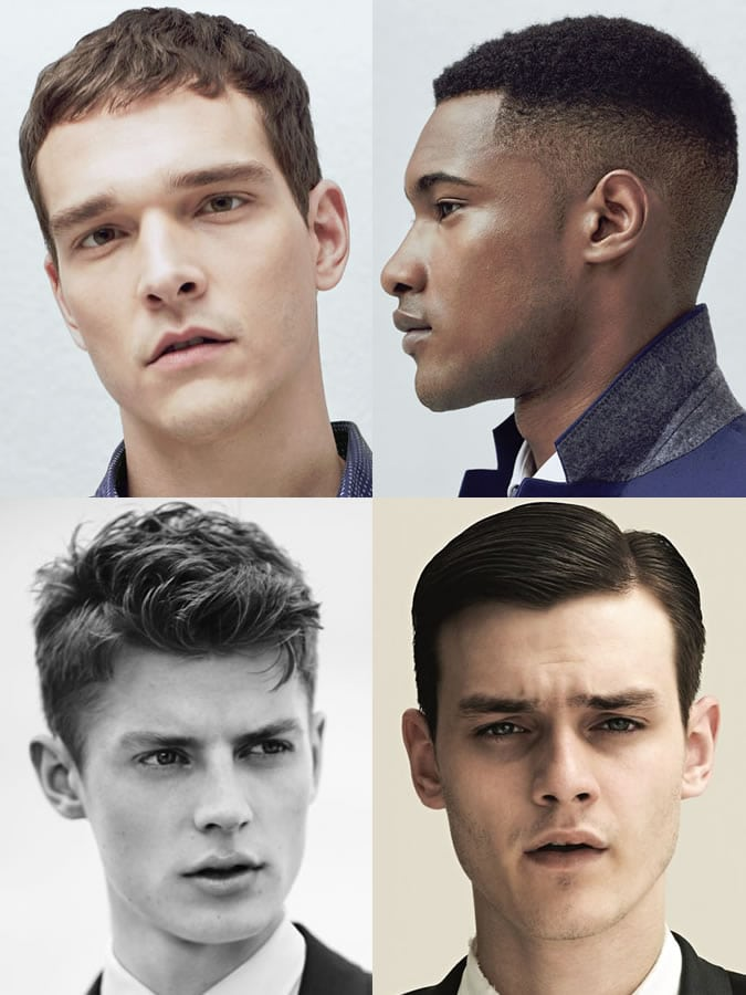 Homens com rosto quadrado