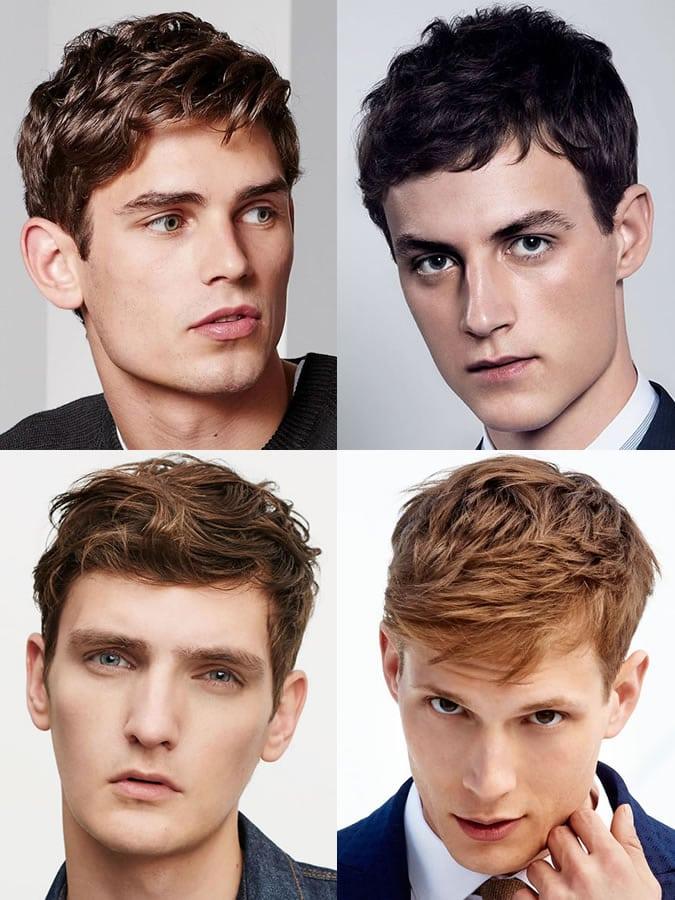 Homens com rosto retangular