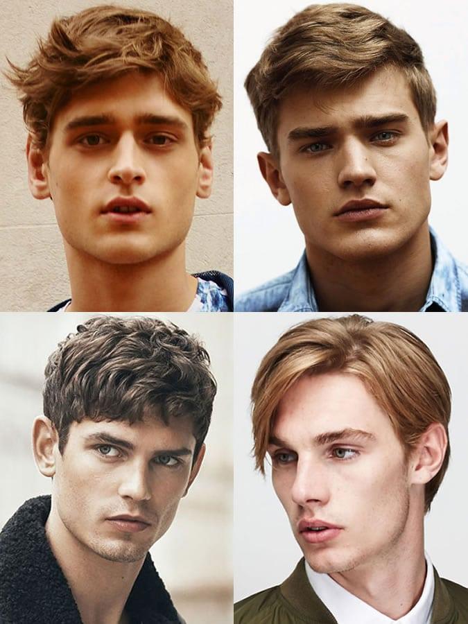 Homens com rosto formato de diamante
