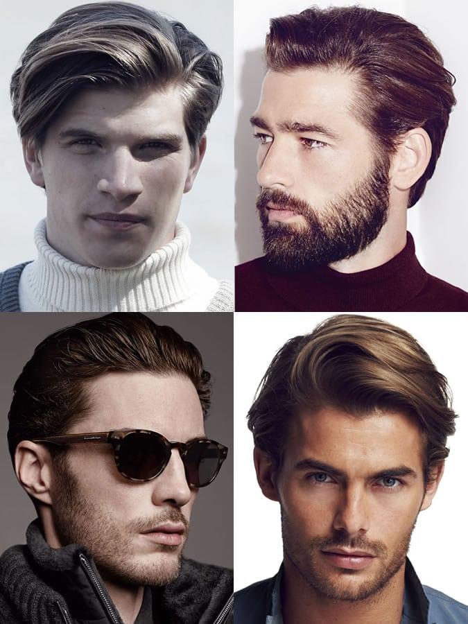 Homens com rosto formato de coração