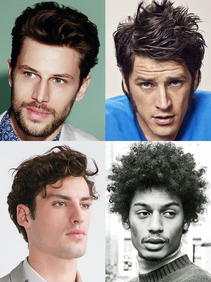 Homens com rosto triangular