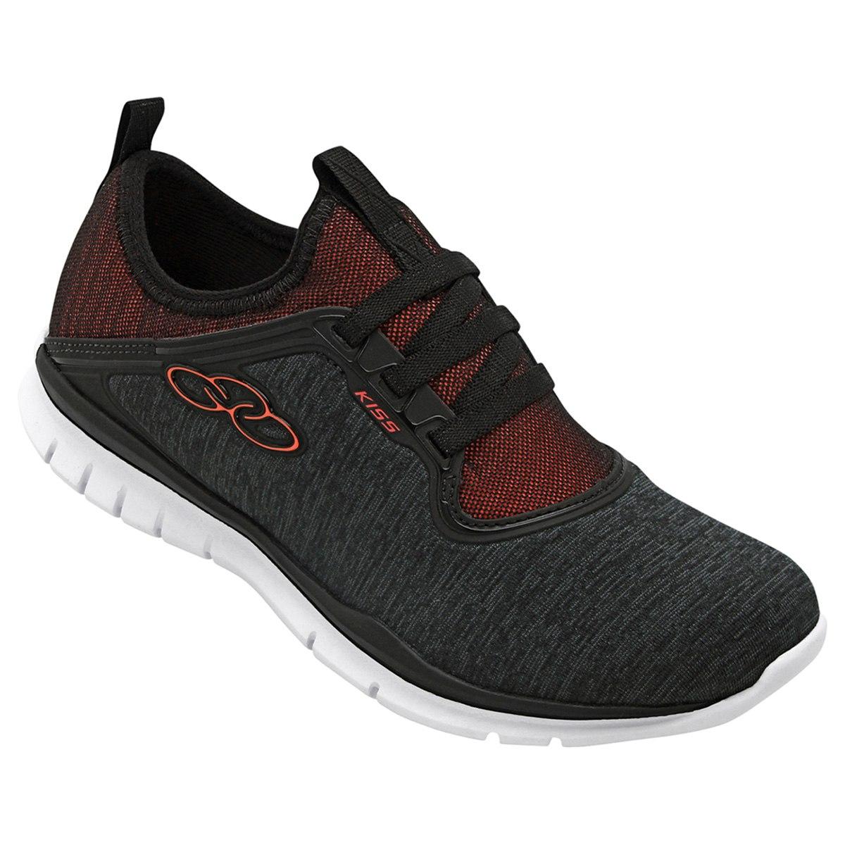Olympikus Sneaker Cinza e Vermelho