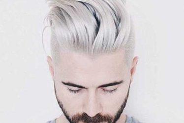 O Cabelo platinado masculino é o penteado mais popular da categoria
