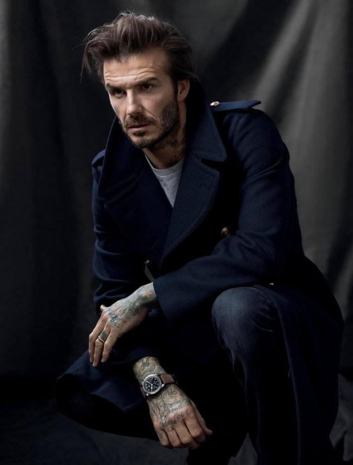As Figuras da moda masculina são bem curiosas em David Beckham
