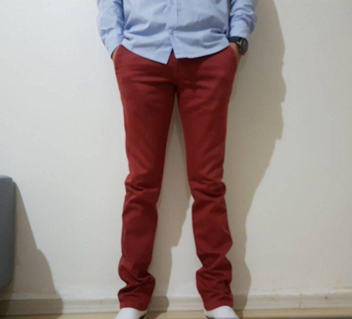 Calça Vinho Masculina Jeans