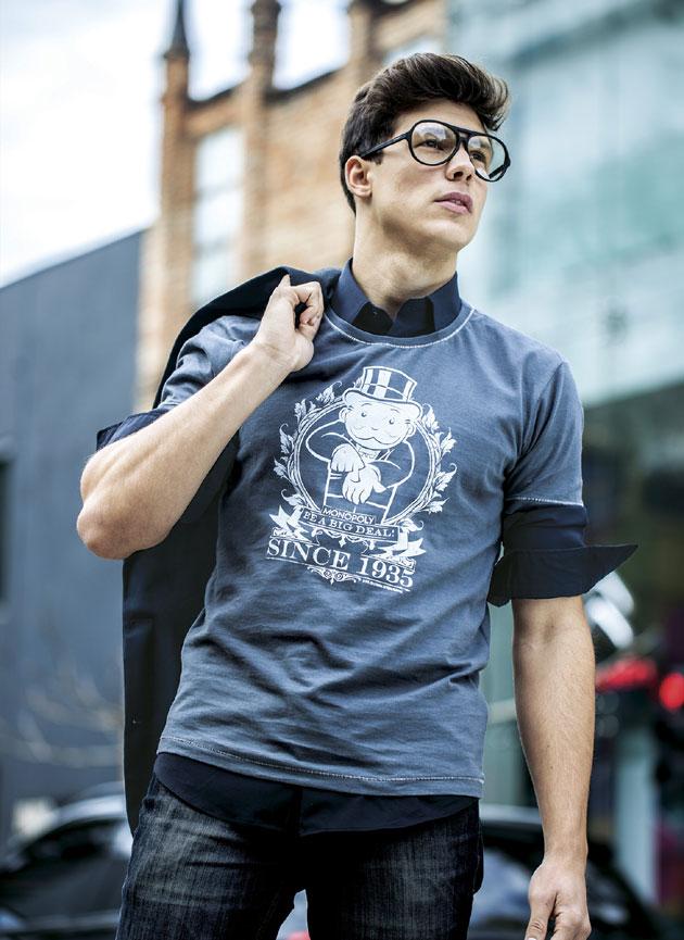 Estilo Geek Masculino óculos redondos